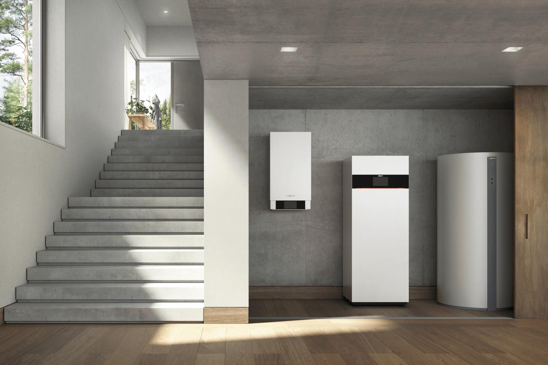 Brennstoffzellenheizung im Keller eines Hauses