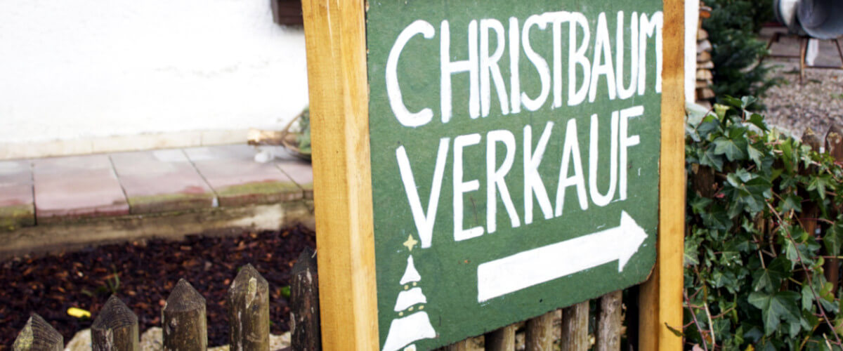Schild Christbaum-Verkauf